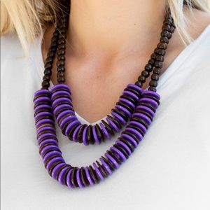 Jewelry - Dominican Disco - Purple | Necklace